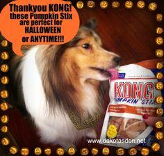 NO TRICKS! Just KONG Pumpkin Stix Premium Chewy TREATS this HALLOWEEN! ENTER TO WIN!