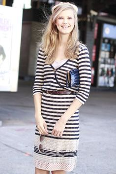 Lindsey Wixson's Nautical Dress