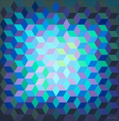 Victor Vasarely - Ion - 11, tempera on cardboard. This isn't mono and not on topic for my assignment, but I love this. Love the colours, the shape and the composition.