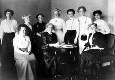 The International Woman Suffrage Alliance Budapest 1913 - Carrie Chapman, Millicent Fawcett and other members of the board.