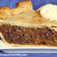 Old Fashioned Raisin Pie. It doesn't sound good to me, but my Father in law really wants me to make it for him.