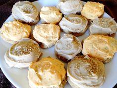 Pumpkin Cookies with Brown Sugar Caramel Frosting