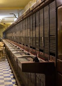 The phone switchboard for the massive underground cold war city known as the Burlington bunker underneath Corsham in England Photographer unknown