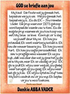God se briefie aa jou Prayer Verses, Bible Prayers, Prayer Quotes, Bible Quotes, Christian Encouragement, Encouragement Quotes, Motivational Words, Inspirational Quotes, Birthday Prayer