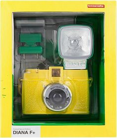Lomography Diana F+ Buttercup Lomo 120 Film Camera BRAND NEW Model #904 #Lomography