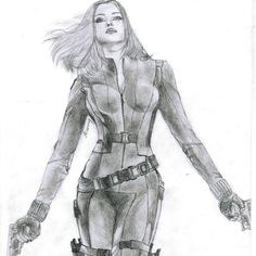 Black Widow #black #widow #avengers #art #drawing #artwork #captain #america