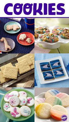 Dress up your cookies as you would your cakes and cupcakes with colorful fondant additions, sprinkles, candy melts, buttercream and more!  Check out the Wilton Cookies board for more inspiration.