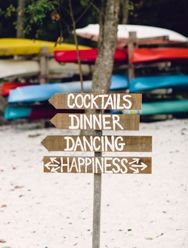 Cocktails, dinner, dancing, happiness wedding sign | Philadelphia Wedding Photographer | Danfredo Photography