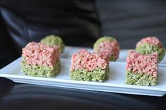 Week of Menus: Matcha and Strawberry Rice Krispy Treats (Pops or Layers): Almost 1,000,000