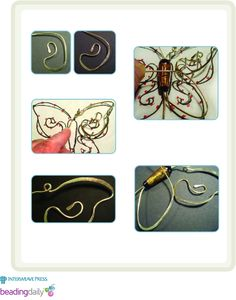 Butterfly Wire Pendant tutorial