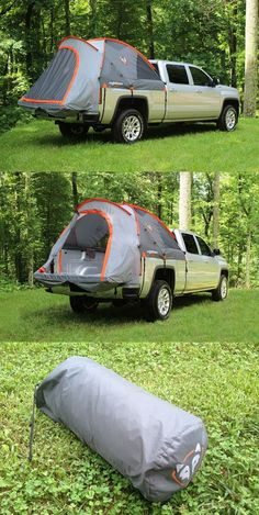 Camp virtually anywhere you can park with a truck tent Compatible with the GMC Sierra this tent mounts easily over the Sierra s bed with no tarps stakes or guy lines Camping in a truck bed Yes please Suv Camping, Camping And Hiking, Camping Hacks, Outdoor Camping, Camping In Truck Bed, Camping Storage, Tent Camping Beds, Camping Essentials, Outdoor Gear