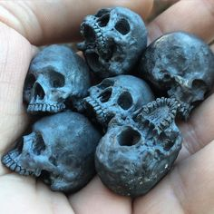 """""""Skull collecter"""" Beads - Into The Fire Jewelry skull rings hand carved by…"""