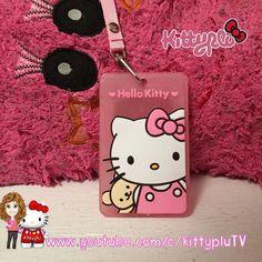 Mi nuevo porta credencial de Hello Kitty  me encanto  by kittyplu