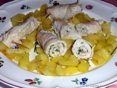 Involtini di tacchino alle erbe aromatiche con patate cotti al forno