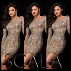 Dress for the party with style 48377 Platinum! #CocktailDress #Homecoming2K14 www.scalausa.com