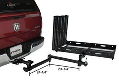 Rage PowerSport Swing-Away, Hitch-Mounted Wheelchair and Scooter Carrier - Ramp Rage Powersports Hitch Cargo Carrier Ute Camping, Truck Camping, Motorcycle Carrier, Beach Cart, Cargo Rack, Rv Travel Trailers, Truck Bed Accessories, Small Rv, Truck Storage