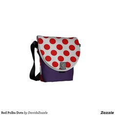 Red Polka Dots Messenger Bag  Available on many products! Hit the 'available on' tab near the product description to see them all! Thanks for looking!     @zazzle #art #polka #dots #shop #chic #modern #style #circle #round #fun #neat #cool #buy #sale #shopping #men #women #sweet #awesome #look #accent #fashion #clothes #apparel #tote #bag #accessories #accessory #compact #mirror #hand #purse #clutch #cosmetic #makeup #messenger #bicycle #red #white