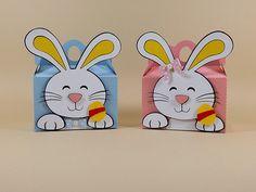 Lindas caixinhas para decorar e encantar. A criançada vai adorar receber estas lembrancinhas recheadas de ovinhos da Páscoa. Páscoa - Festa da Páscoa.