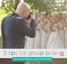 Guest Post from Dale Benfield, a wedding and portrait photographer from Northwest Arkansas. Dale shares five posing tips to help make your group shots more dynamic and improve your clients' experie...