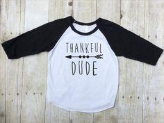 Thankful Dude Thanksgiving Shirt  Boys by TwistedLinen on Etsy