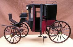 miniature vintage coach - Squarefronted Brougham