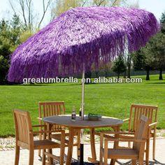 170 t poliéster pp hierba último diseño rafia sombrilla de playa-en Parasoles y Bases de patio de Mobiliario Exterior en m.spanish.alibaba.com.