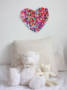 How to make a gorgeous confetti heart artwork for your kids' bedroom