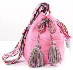 Pretty in Pink - Mochila Bag Backpack Purse, Clutch Bag, Knitted Bags, Crochet Bags, Sweet Bags, Hippie Gypsy, My Precious, Western Wear, Crochet Stitches
