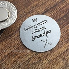 My Golfing Buddy Calls Me Grandpa Golf Ball Marker with Magnetic Hat Clip Grandpa Golf Ball Marker Grandpa Gift New Grandpa Gift Mens Gift * Check this awesome product by going to the link at the image.Note:It is affiliate link to Amazon.