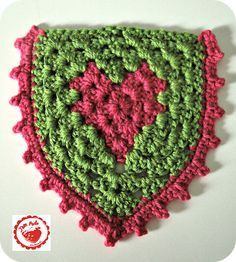 Granny heart ♥LCH♥ with step by step picture instructions. Awesome!!