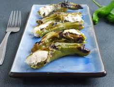 Stuffed Shishito Peppers (with feta)