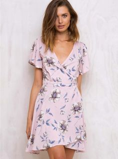 Lullaby Floral Wrap Dress