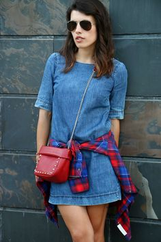 I love Fita Métrica: Denim dress...No stress!