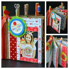 Cris M. Supply: Paper Bag Make a mini scrapbook using brown paper bags to register all the milestones that the children will accomplish in the new school year. Kids can embellish this cute mini scrapbook, write favorite moments and events and add pictures throughout out the year. While they get their scrapbook ready, they will look forward going back to school to experience all the activities that they will register in their scrapbook!