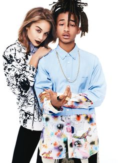 Jaden Smith and Jasmine Sanders for Glamour Magazine Plaid Fashion, Love Fashion, Autumn Fashion, Fashion Outfits, Will Smith And Family, Jaden Smith Fashion, Glamour Photo Shoot, Golden Barbie, Jasmine Sanders