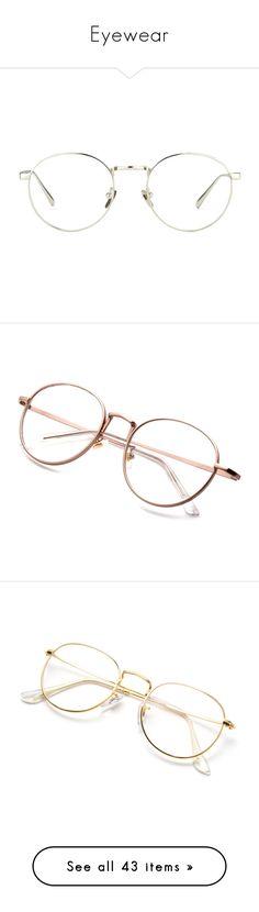 """Eyewear"" by dudas2pinheiro ❤ liked on Polyvore featuring accessories, eyewear, eyeglasses, glasses, sunglasses, accessories - glasses, linda farrow eyewear, linda farrow glasses, linda farrow and lens glasses"