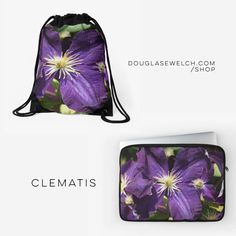 Get these Clematis Flower Bags, Laptop Sleeves and Much More!  http://j.mp/2kEzf5G  #flowers #garden #nature #clematis #purple #products #cards #clothing #arts #crafts #technology #iphone #samsung #cases #bags #totes #photography #prints #home #housewares #journals #pillows #clocks #mugs