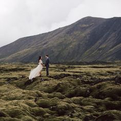Dream of running off and eloping somewhere magical just the two of you but also want to celebrate with family  friends? Well todays TWO part wedding feature is for you! This sweet couple said I Do in #Iceland than celebrated in Toronto with all their friends  family. See more #onGWS today with the link in our profile // photos by @sarakbyrne @dylanmhowell and dress by @ladyevelynuk #Iceland #icelandwedding by greenweddingshoes