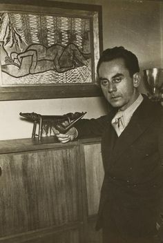 Man Ray: Self Portrait, c. 1934. | Photographer, painter, maker of objects + films, Man Ray was on the most versatile + inventive artists of the 20th c. Born 1890, Philadelphia, he knew Greenwich Village in the avant garde era following the 1913 Armory show; Paris in the 1920's + 1930's, where he played a key role in the Dada and Surrealist movements; The Hollywood of the 1940s, where he joined others chased by war from their homes in Europe; and finally, Paris again until his death in 1976.