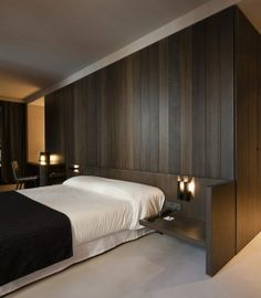 wood Headboard Hotel Interior Design is part of Bedroom hotel - Welcome to Office Furniture, in this moment I'm going to teach you about wood Headboard Hotel Interior Design Home Bedroom, Modern Bedroom, Bedroom Decor, Bedroom Ideas, Bedroom Setup, Bedroom Simple, Bedroom Images, Contemporary Bedroom, Bedroom Designs