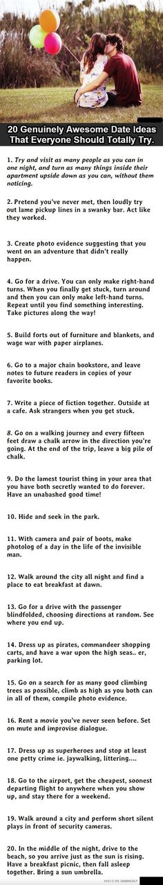 Quirky Date Ideas