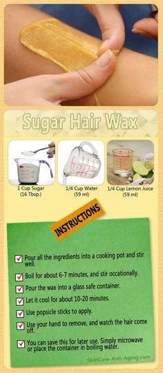Sugar Wax Recipe For Hair Removal. This is a wonderful hair wax recipe you can test at home. Picture silky smooth legs and not having to pay a visit to spa or a beauty shop. Hair Removal Ideas: Sugar Wax Recipe For Hair Removal. This is a wonde… Beauty Care, Beauty Skin, Diy Beauty, Beauty Ideas, Beauty Secrets, Beauty Products, Homemade Beauty, Beauty Hacks For Hair, Skin Treatments