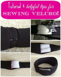 Tutorial & Helpful Tips for Sewing Velcro! : Diane's Vintage Zest