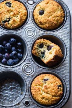 The BEST Low Carb Sugar Free Keto Blueberry Muffins - SO moist and tender, you'll never believe they are gluten/grain/dairy/sugar free and keto friendly! Perfect for breakfast or snacks for kids OR adults! #Foodfaithfitness #Lowcarb #Healthy #Glutenfr