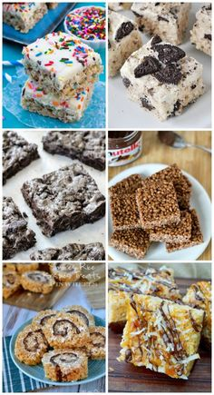 22 Awesome Ways to Make Rice Krispie Treats - Team fat. Rice Krispy Treats Recipe, Rice Crispy Treats, Krispie Treats, Yummy Treats, Sweet Treats, Fun Desserts, Delicious Desserts, Dessert Recipes, Popcorn Recipes