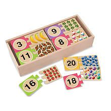 Melissa & Doug Wood Puzzle -Numbers