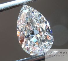colorless pear shape diamond - like the proportions