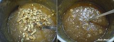 Mermelada de manzana, caramelo y nueces