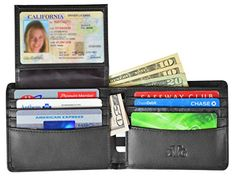 RFID Blocking Wallet for Men - Stylish Genuine Leather Bifold Men's Wallet - Our RFID Wallet uses the best RFID blocking material for your protection - RFID Blocking Passport Sleeve