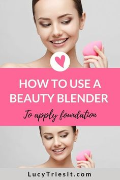 If you've been wondering how to use a beauty blender, then you've come to the right place! This tutorial will teach you the best tips for how to apply foundation using that cute little pink egg-shaped makeup sponge. You're going to love the way your face How To Use Foundation, Beauty Blender Foundation, Foundation Makeup, Beauty Blender Sponge, Beauty Blender How To Use, Foundation Sponge, Foundation Tips, Makeup Tutorial Foundation, Applying Foundation